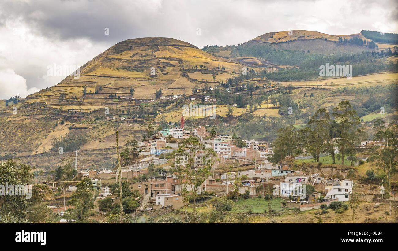 Cityscape Aerial View Alausi Ecuador - Stock Image