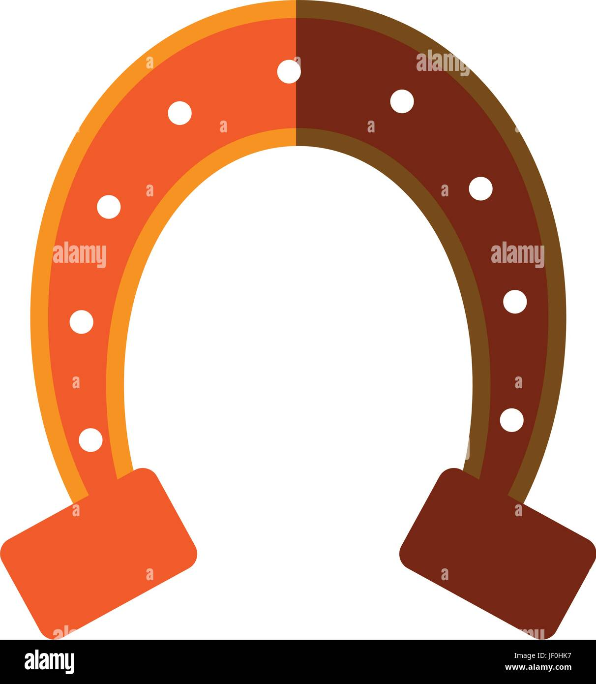isolated horseshoe icon image  - Stock Vector