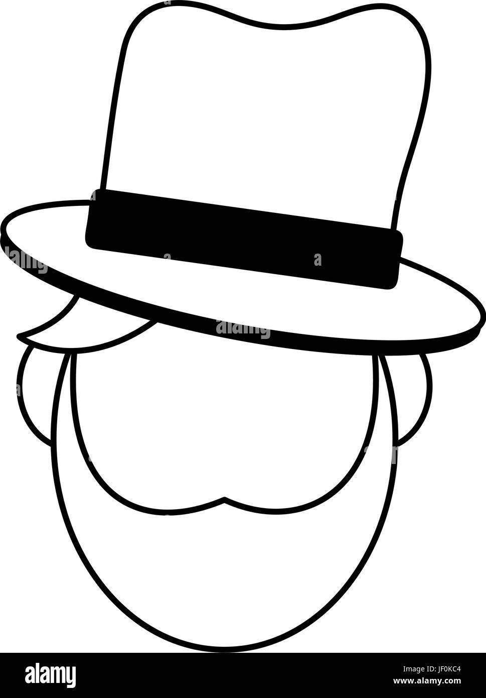 masculine hat icon image  - Stock Image