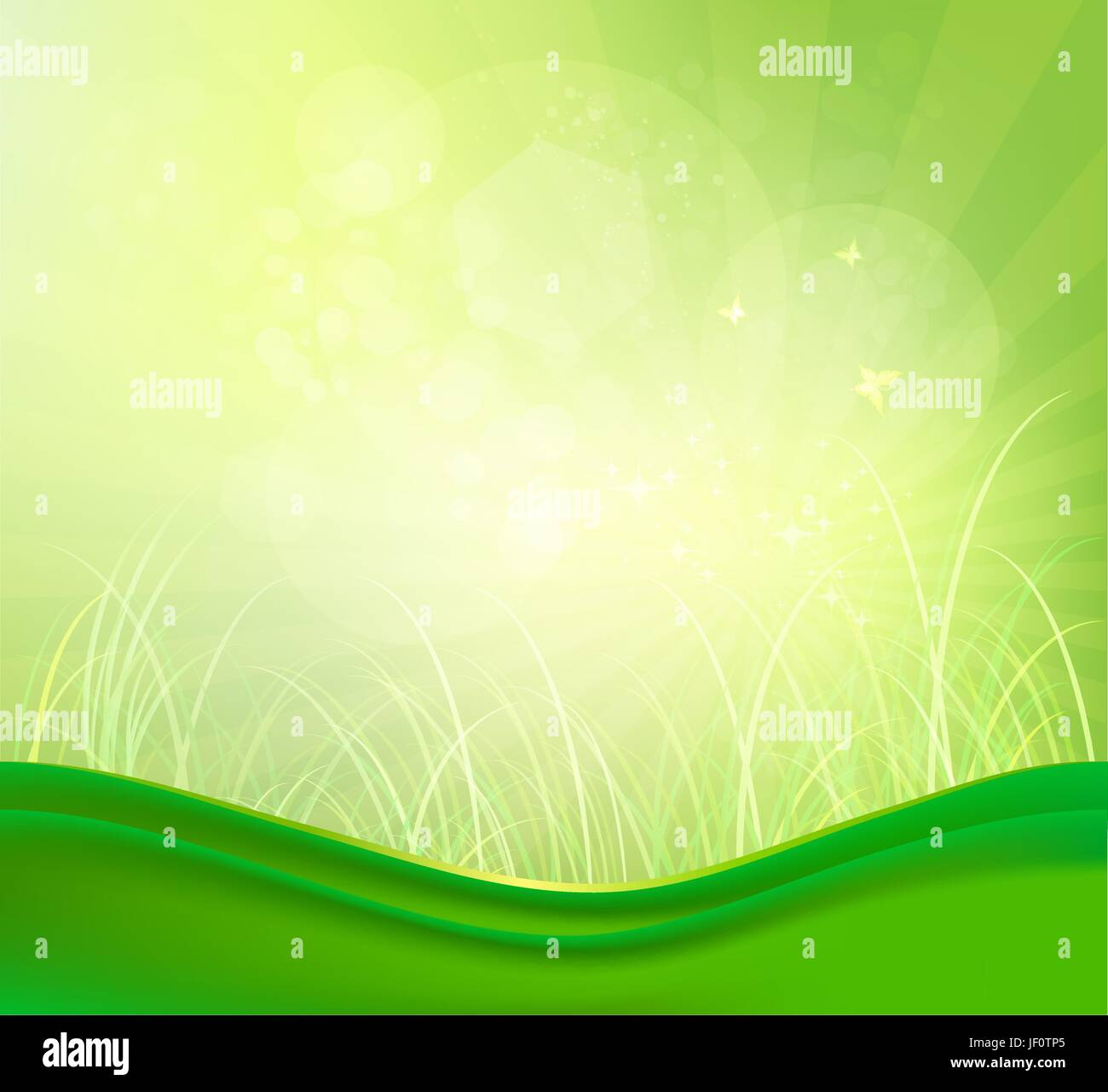 butterfly, field, summer, summerly, spring, illustration, heat, bright, shiny, - Stock Vector