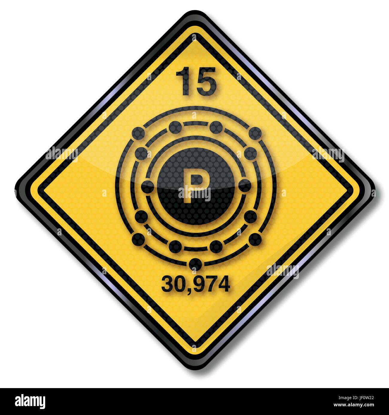 sign with chemical mark phosphorus - Stock Image