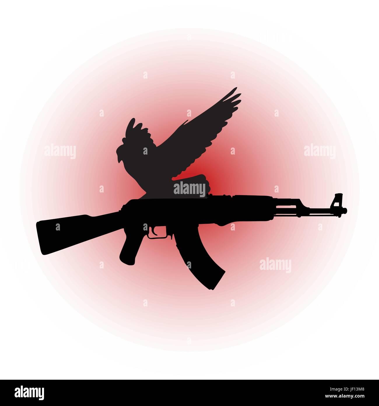 fight, fighting, bird, birds, war, pigeon, pictogram, symbol, pictograph, trade Stock Vector