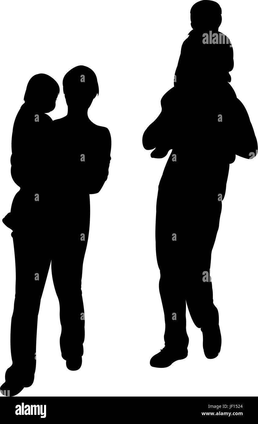 woman, grandpa, grandfather, isolated, female, male, masculine, person, son, - Stock Vector