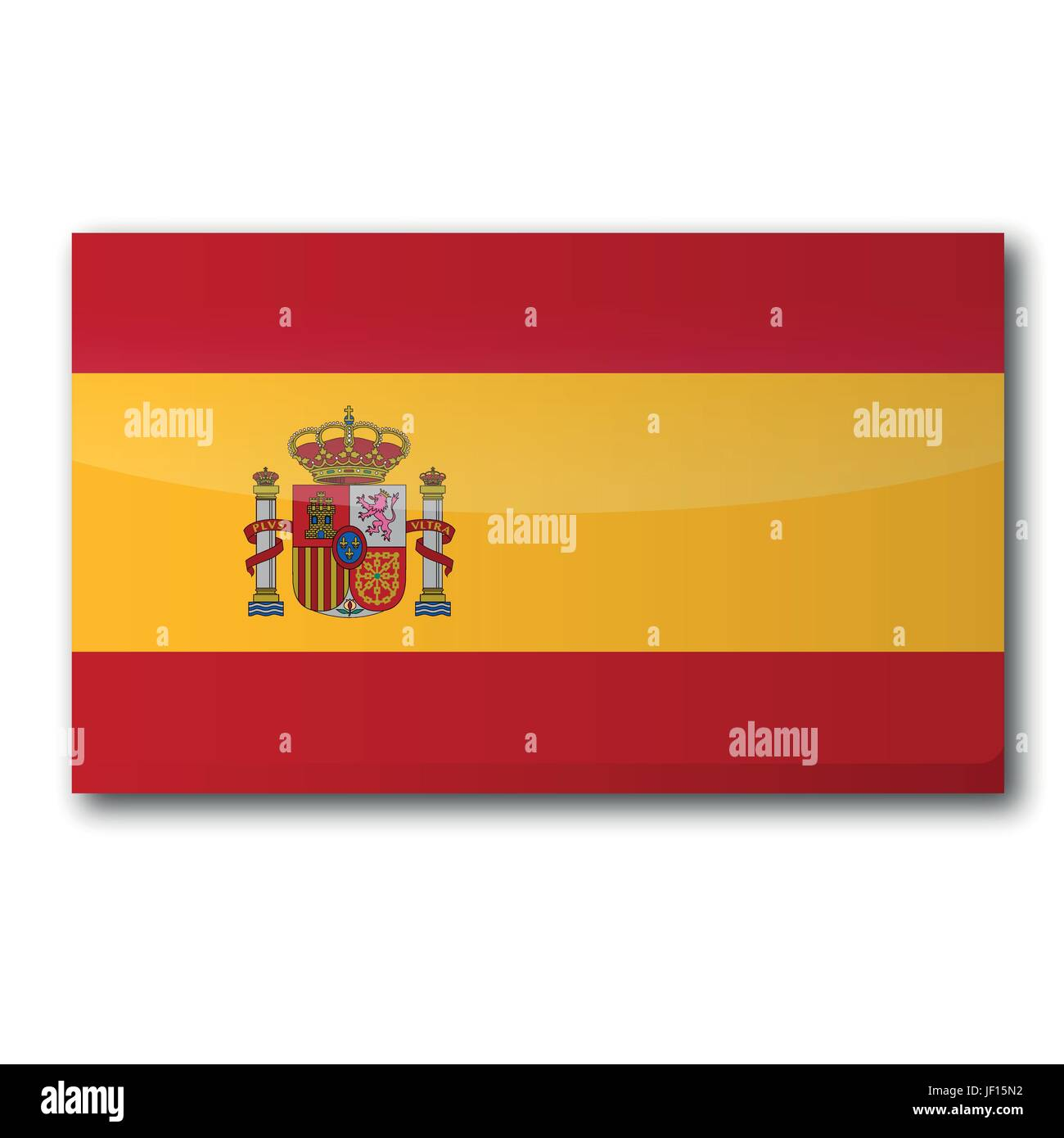 flag spain Stock Vector