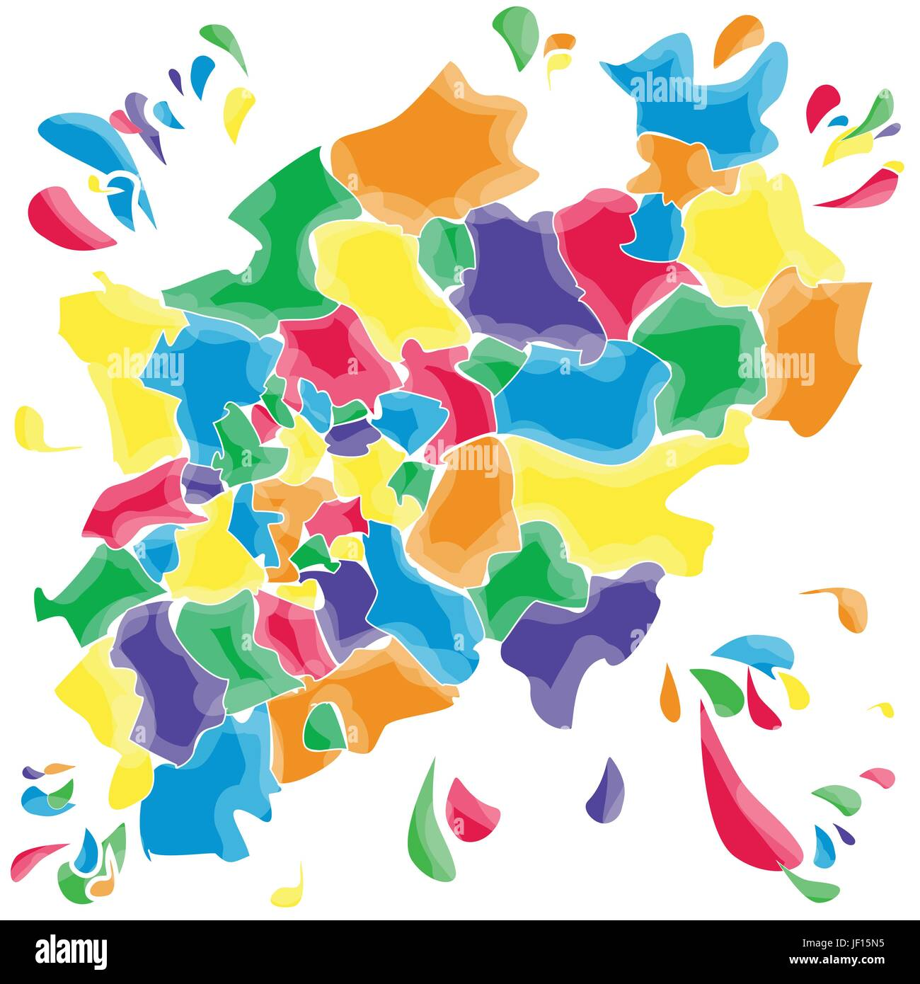 stains and smudges with north rhine-westphalia - Stock Image