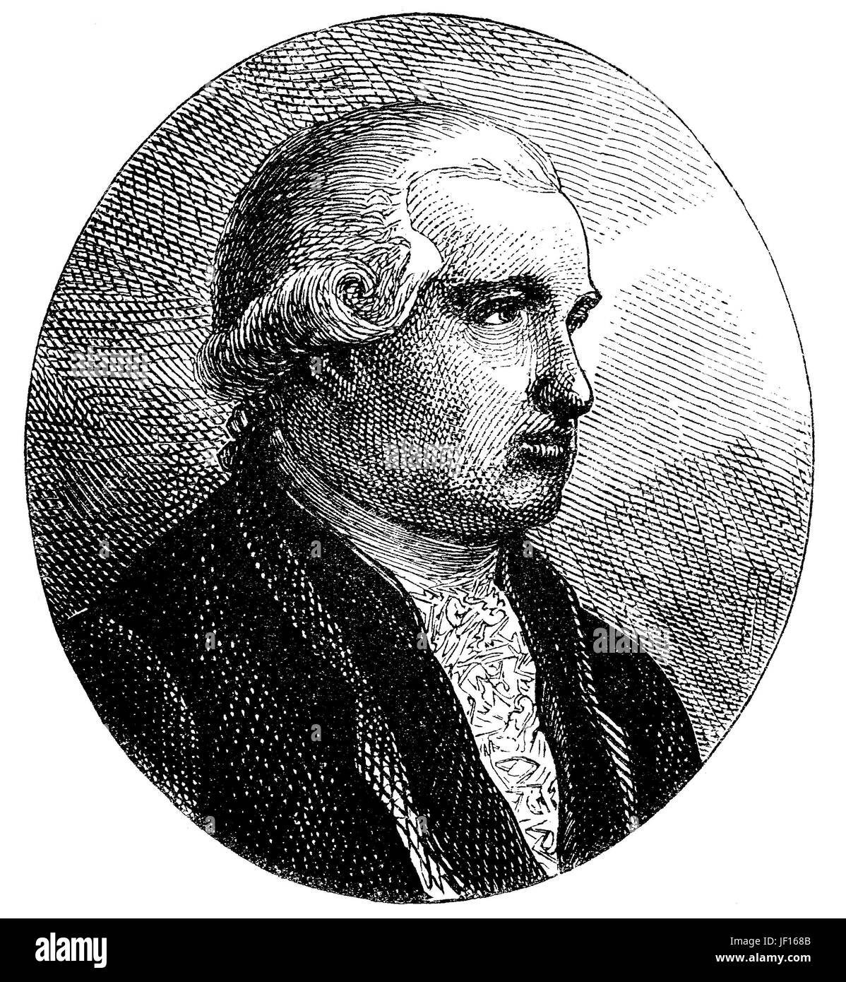 Mayer Amschel Rothschild, written also Anschel, 1744 - 1812, was a German Jewish banker and the founder of the Rothschild - Stock Image