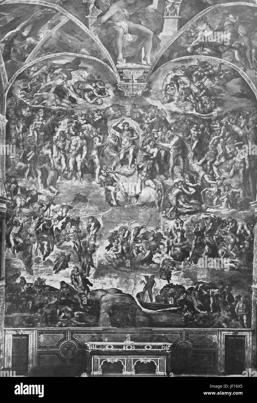 Historical photo of Last Judgment, Final Judgment, Day of Judgment, Judgment Day, Doomsday, or The Day of the Lord, - Stock Image