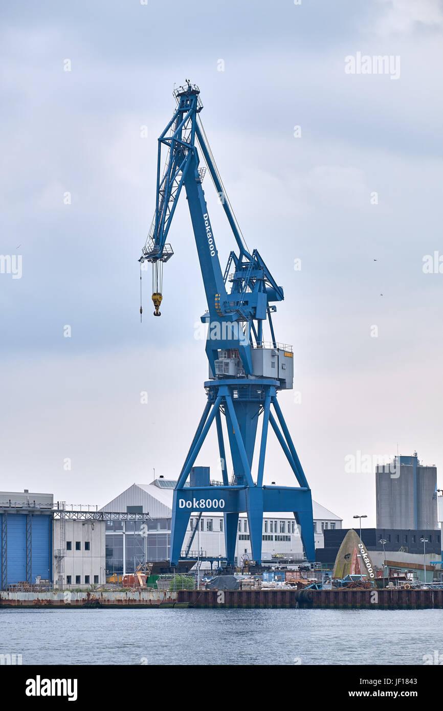 Large Standing Cranes Stencil: JUNE 05, 2016: Gantry Crane Standing On