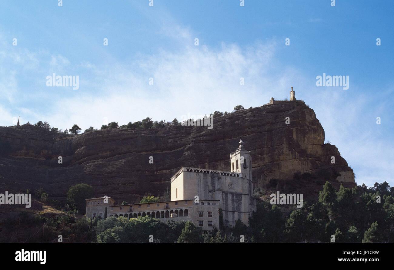 Spain. Huesca. Graus. Sanctuary of Nuestra Se–ora del la Pe–a,16th century. Ribaorza, Province of Huesca. - Stock Image