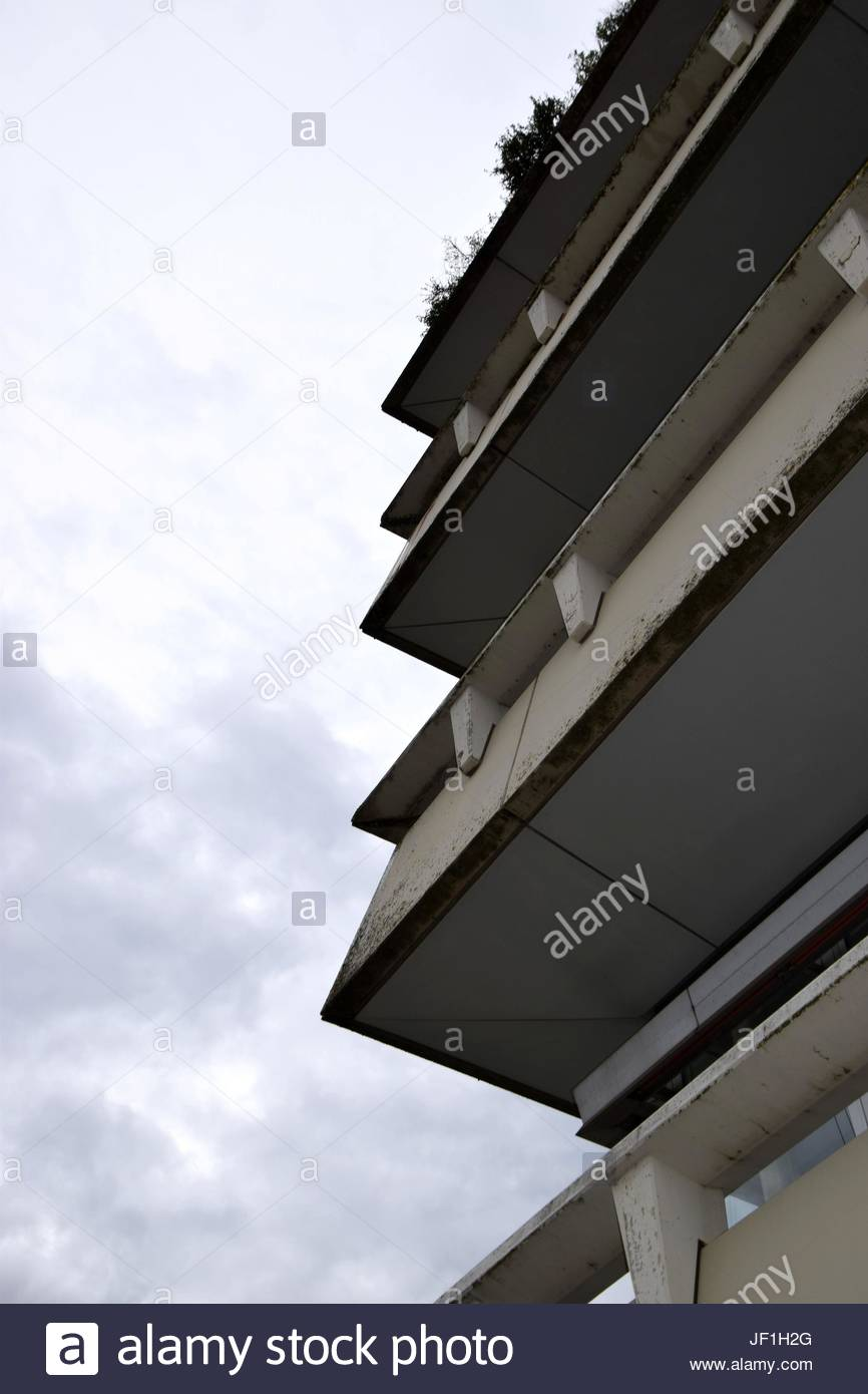 house facade photographed from bottom to top - Stock Image