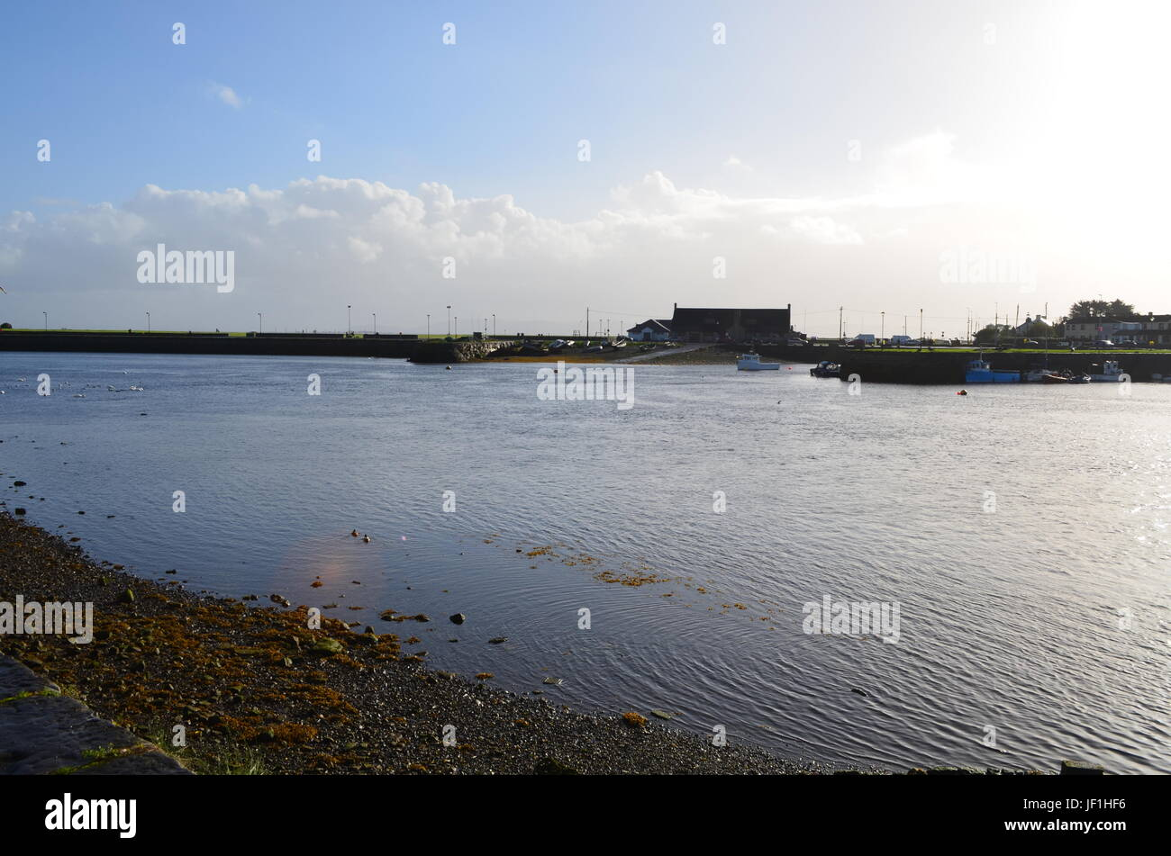 Margins of River Corrib in Galway, Ireland Margins of River Corrib in Galway, Ireland - Stock Image