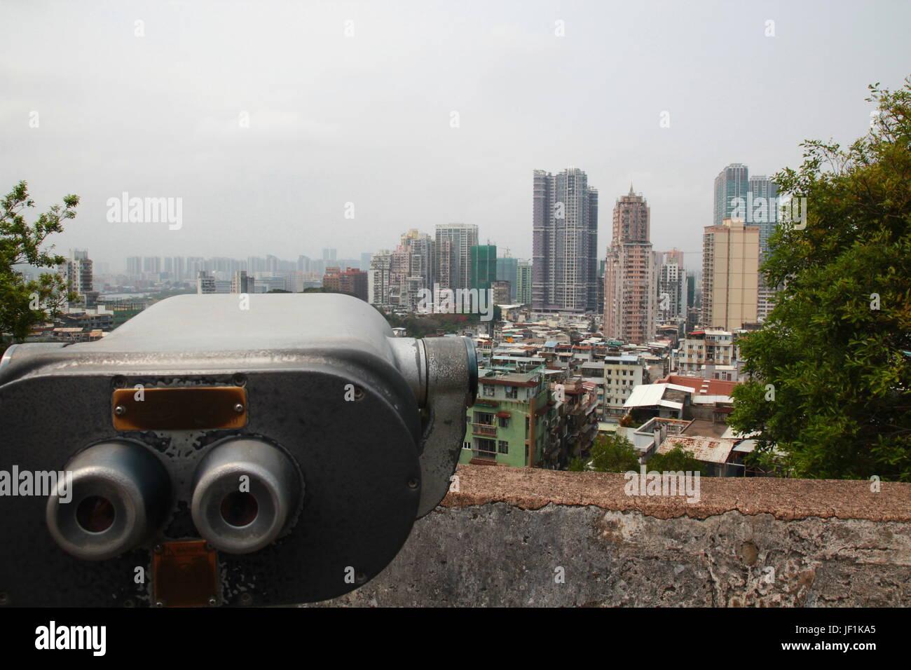 Cityscape of Macau city - Stock Image