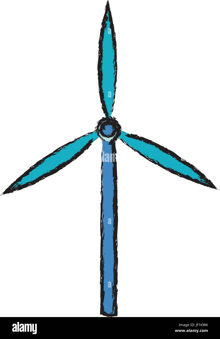 Wind Turbine Tower Energy Recycle Design Stock Vector Art