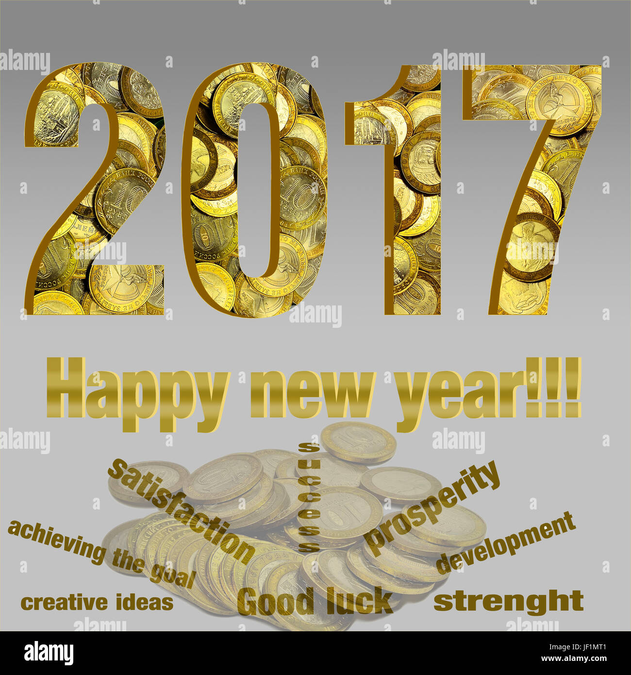 new years greetings to business partners stock image