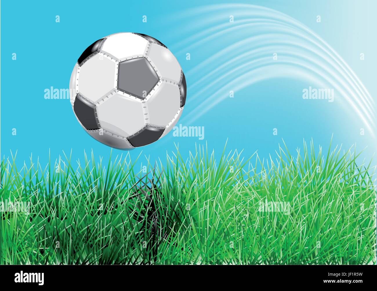 sport, sports, closeup, ball, summer, summerly, foreground, meadow, soccer, - Stock Vector