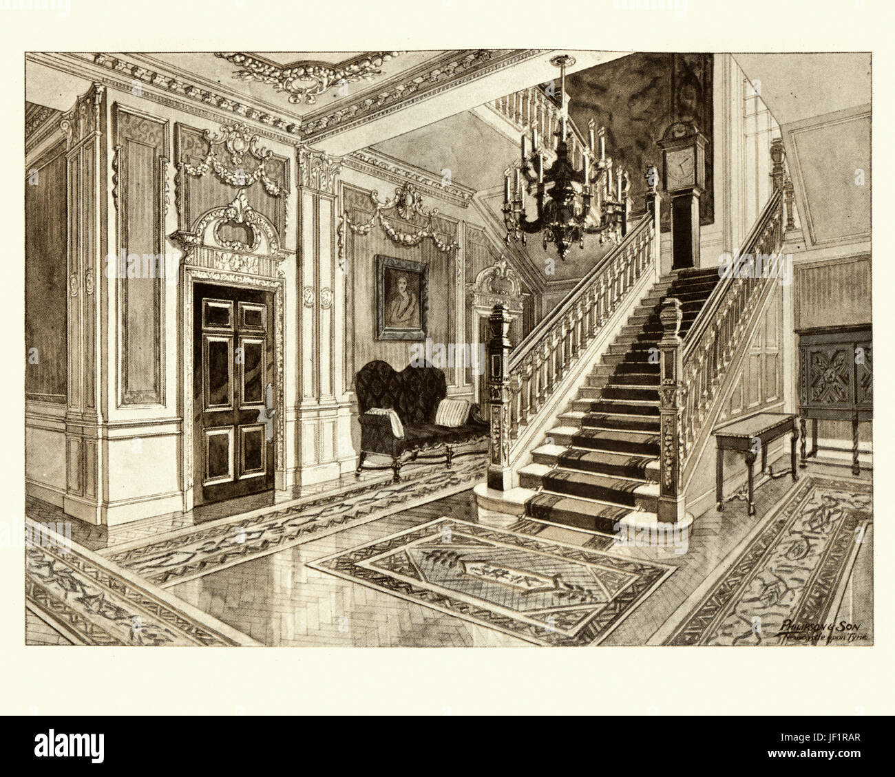 Edwardian Entrance Hall And Staircase