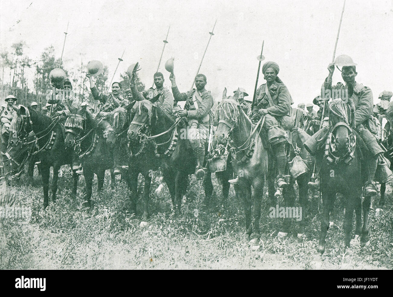 Indian Cavalry, Battle of the Somme 1916 Stock Photo