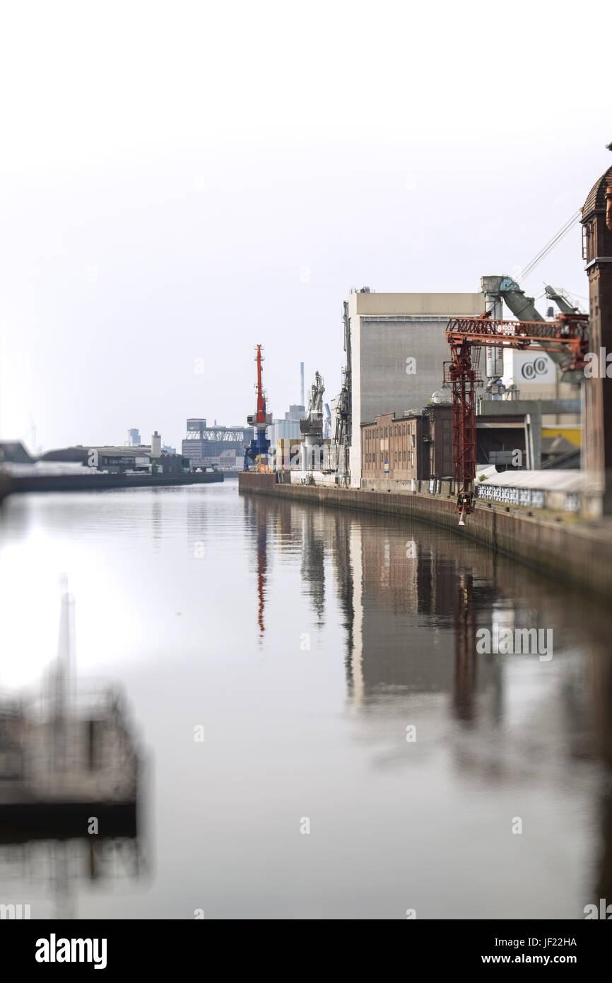 Europahafen Bremen - Stock Image