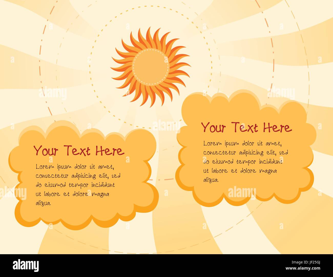 cloud, summer, summerly, day, during the day, delighted, unambitious, - Stock Vector