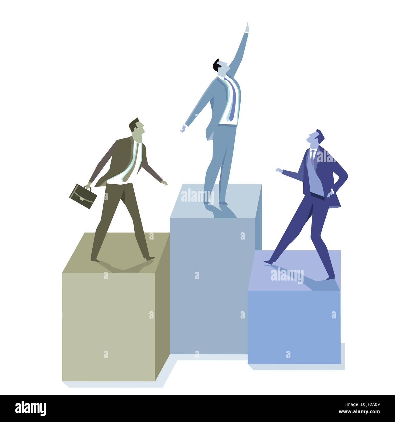 Business development infographic Stock Photo