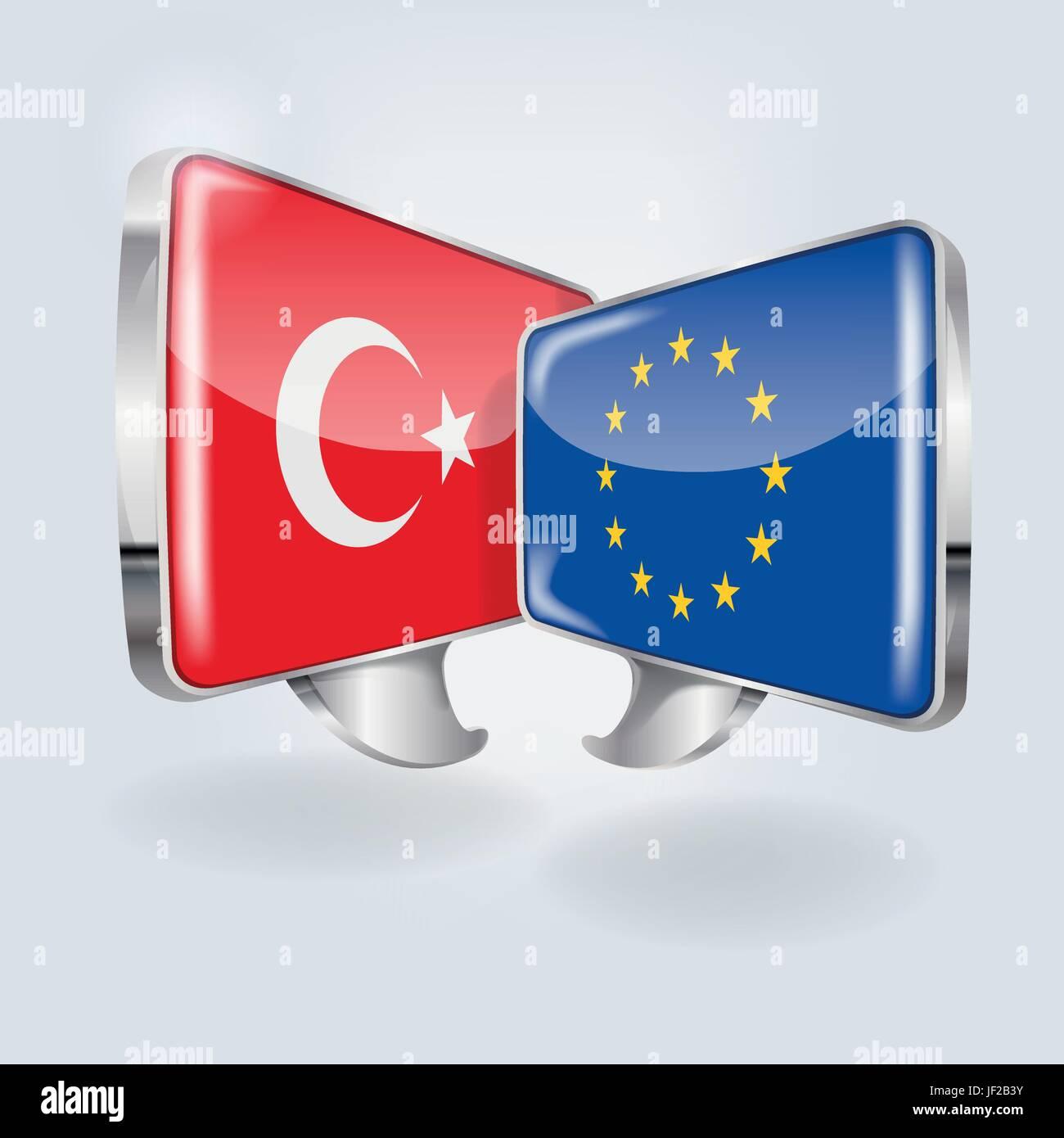 european, caucasian, europe, turkey, collaboration, cooperation, community, - Stock Image
