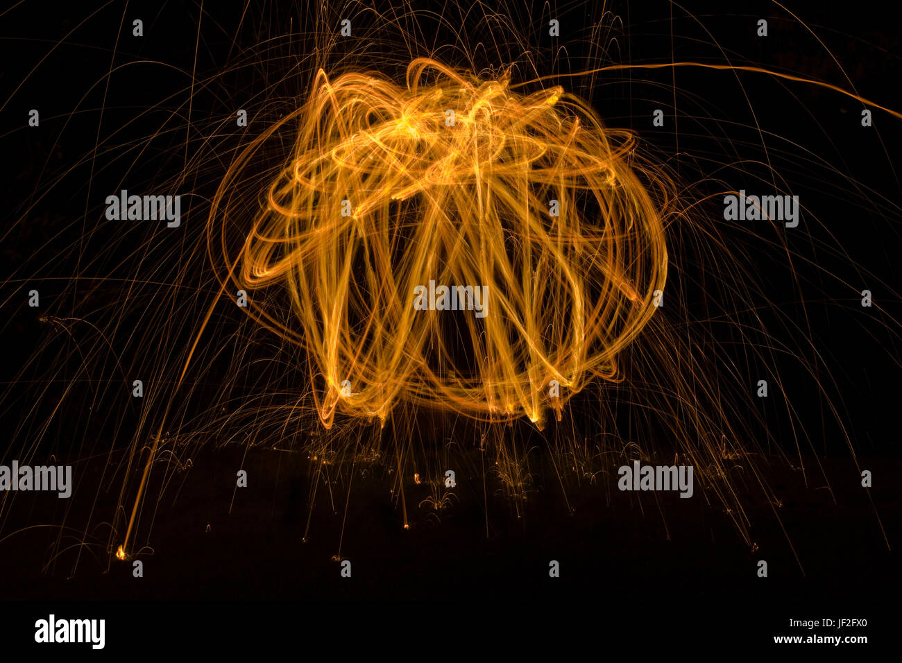 Abstract Communication with Light Painting - Stock Image
