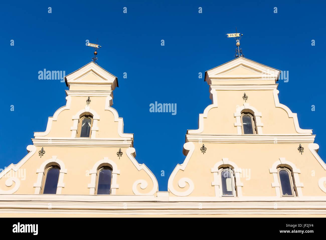 Historic buildings in Wismar - Stock Image
