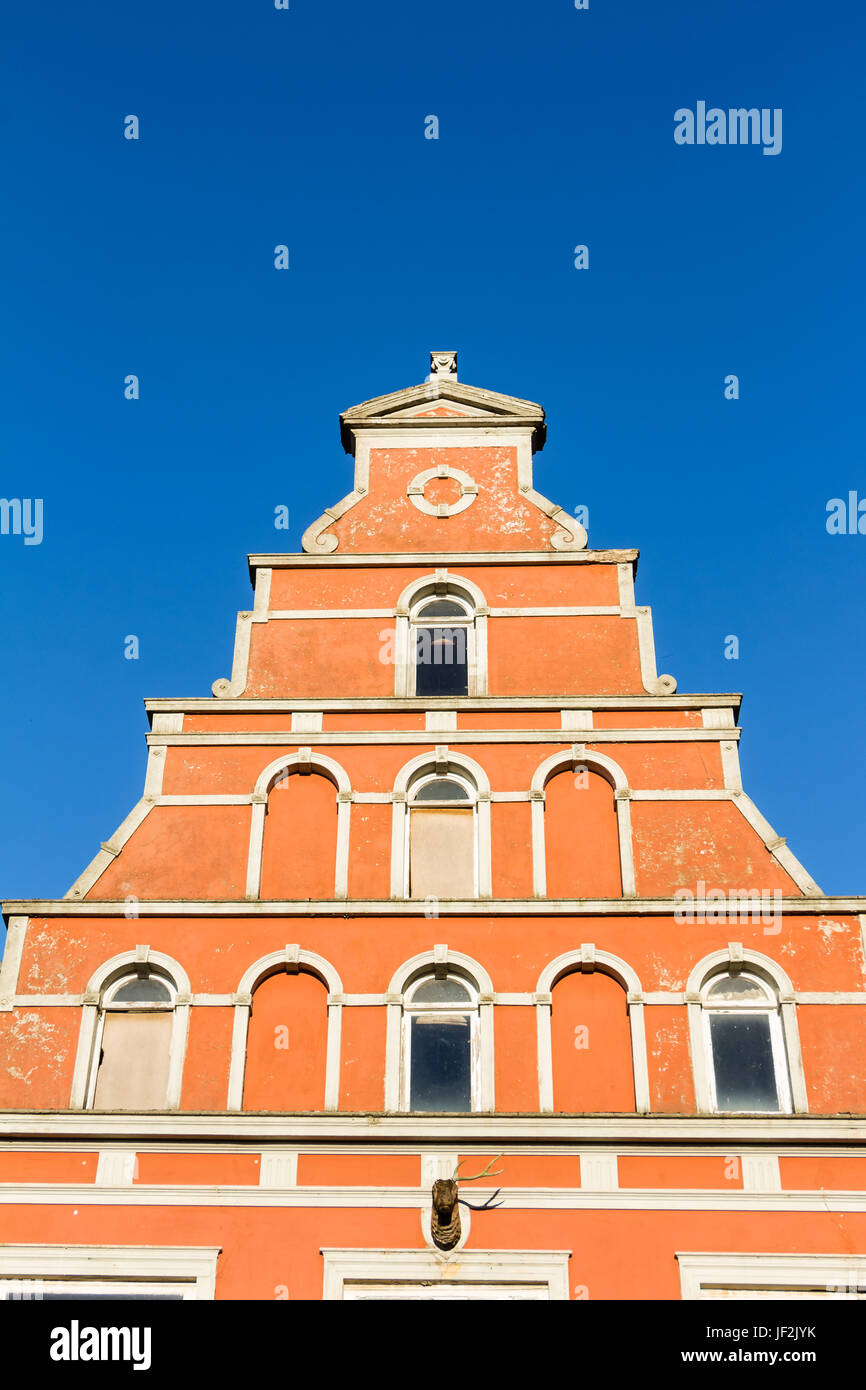 Historic buildingsin Wismar - Stock Image