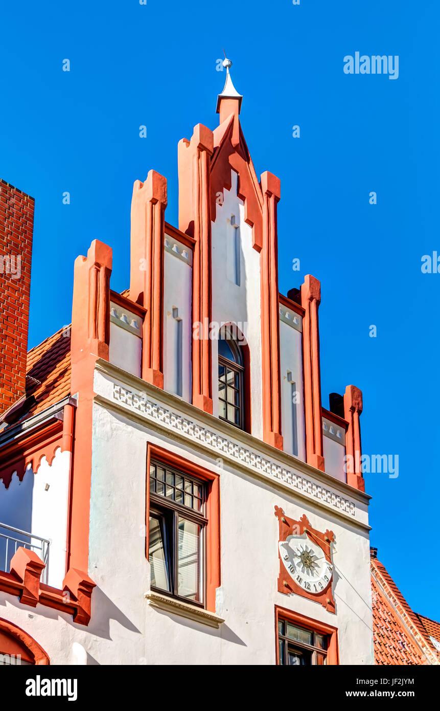 Historic building in Wismar - Stock Image