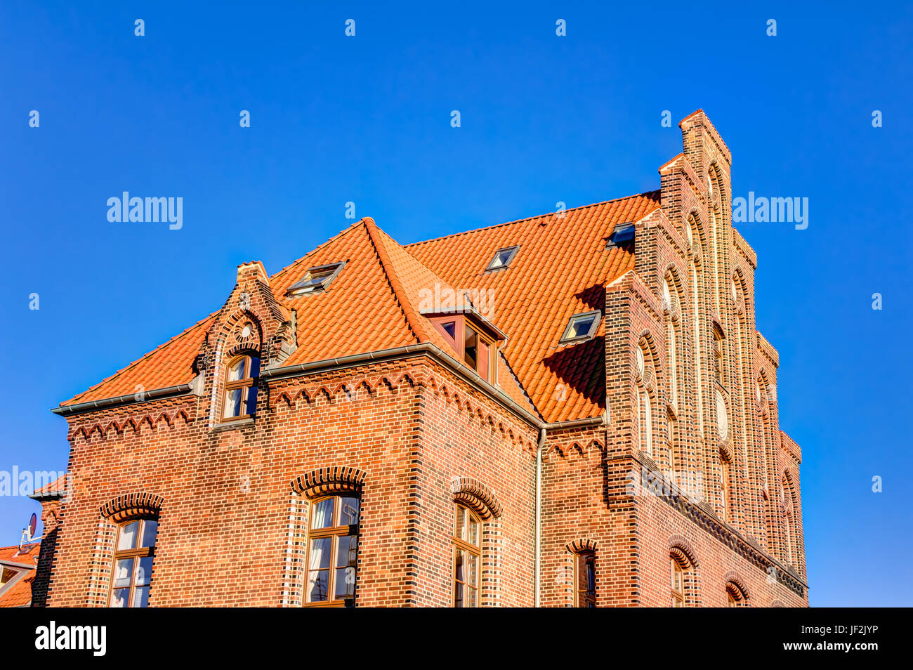 Historic harbor warehouse in Wismar Stock Photo