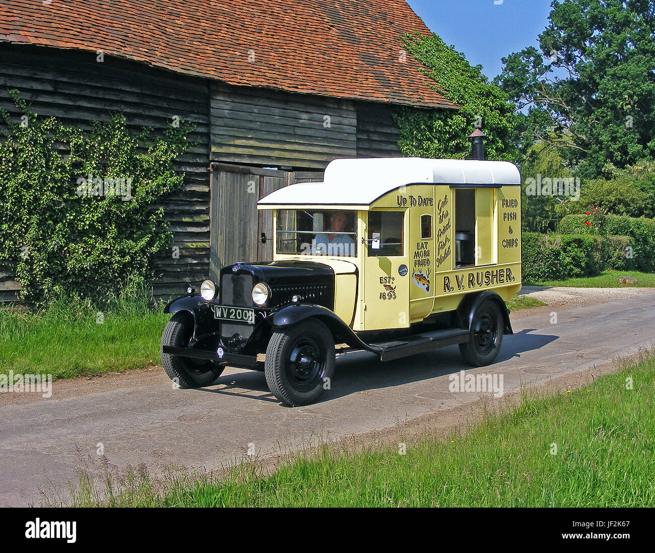 1932 Bedford WS Fish and Chip Van - Stock Image