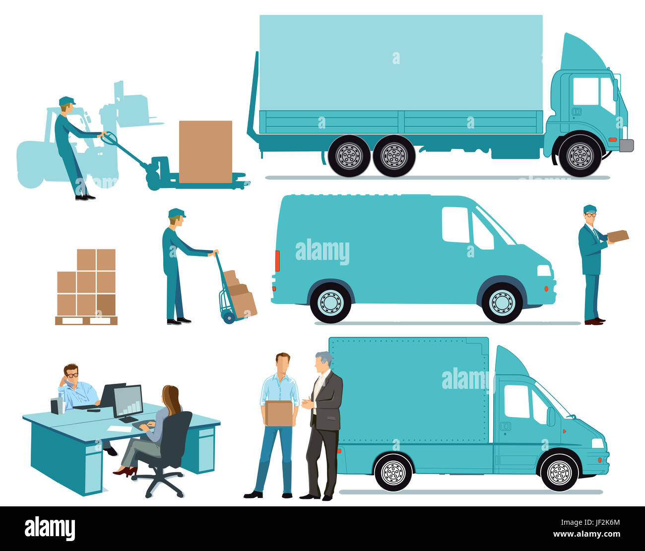Delivery Concept, freight, transportation Stock Photo