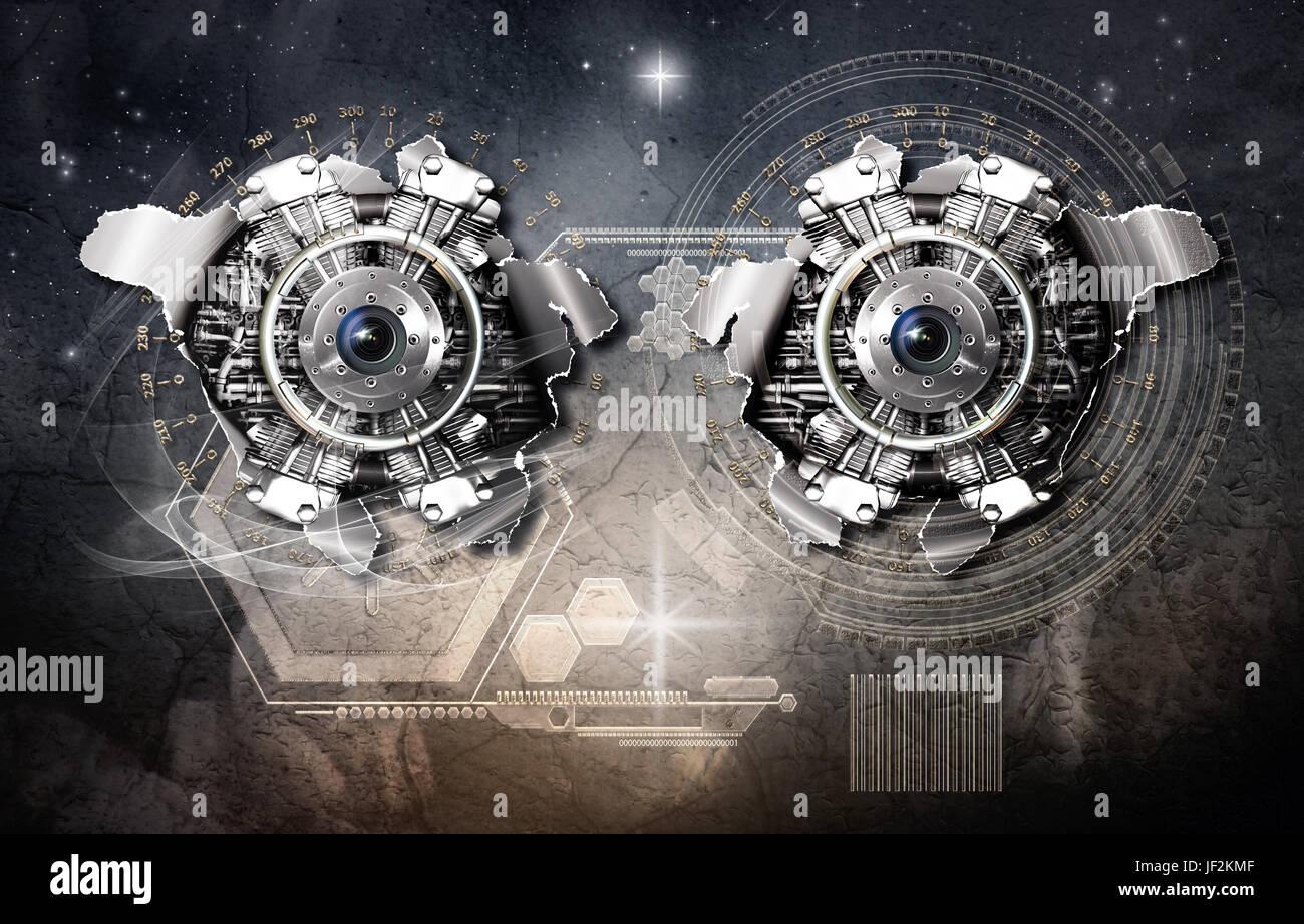 gravitational warp drive - Stock Image