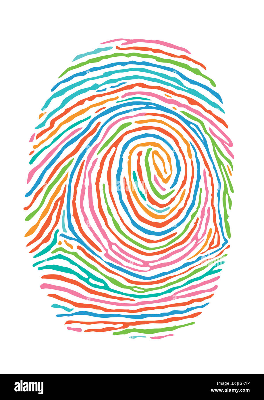 Color fingerprint. Secure identification - Stock Image