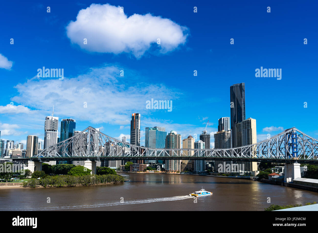 Brisbane city skyline with Story bridge. Queensland. Australia. - Stock Image