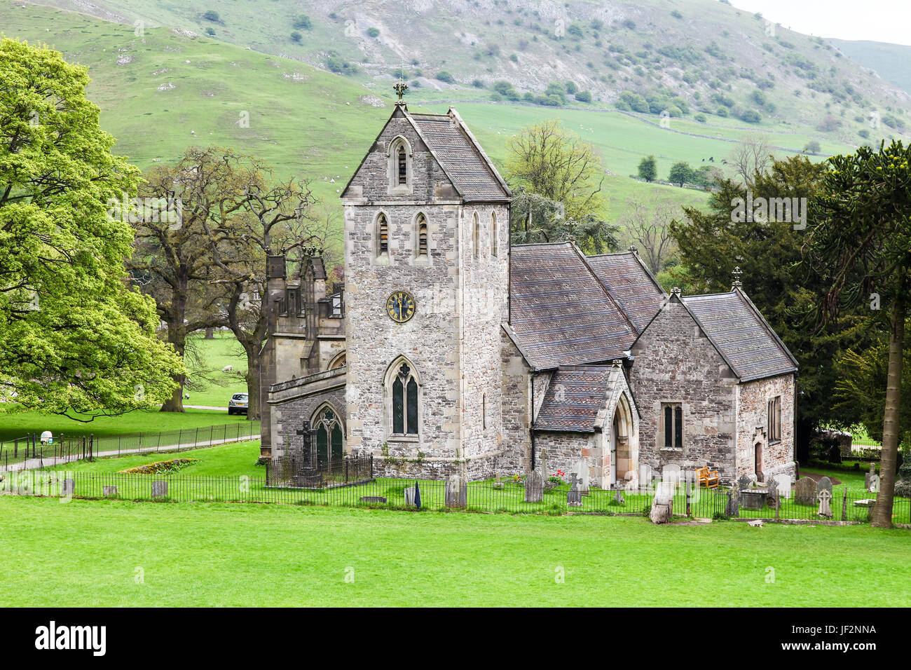 Church Of The Holy Cross Ilam, Staffordshire, England, UK - Stock Image