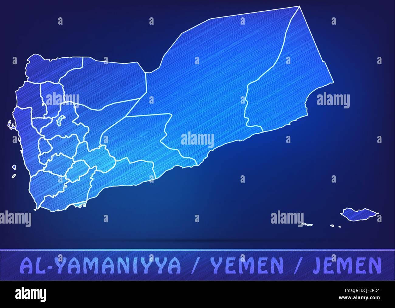card, yemen, land, realty, ground, atlas, map of the world, map, model, design, - Stock Vector
