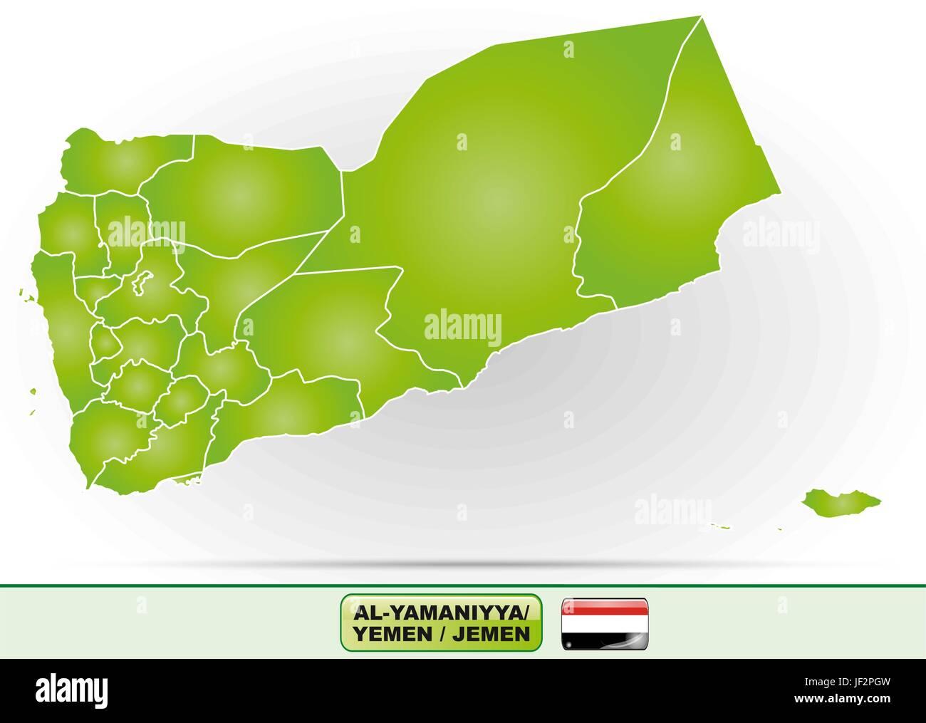 map of yemen - Stock Vector