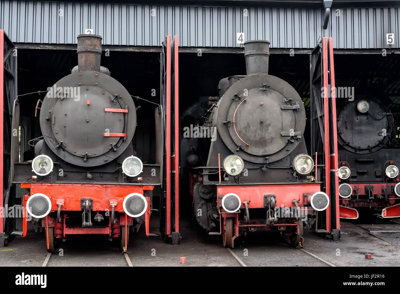 steam locomotives Stock Photo