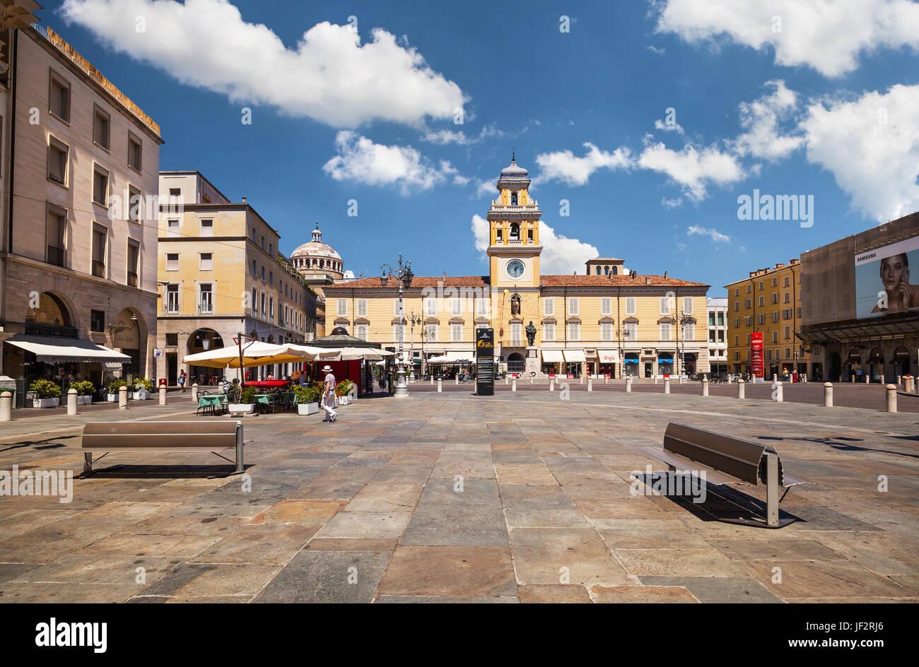 Piazza Garibaldi. Parma - Stock Image