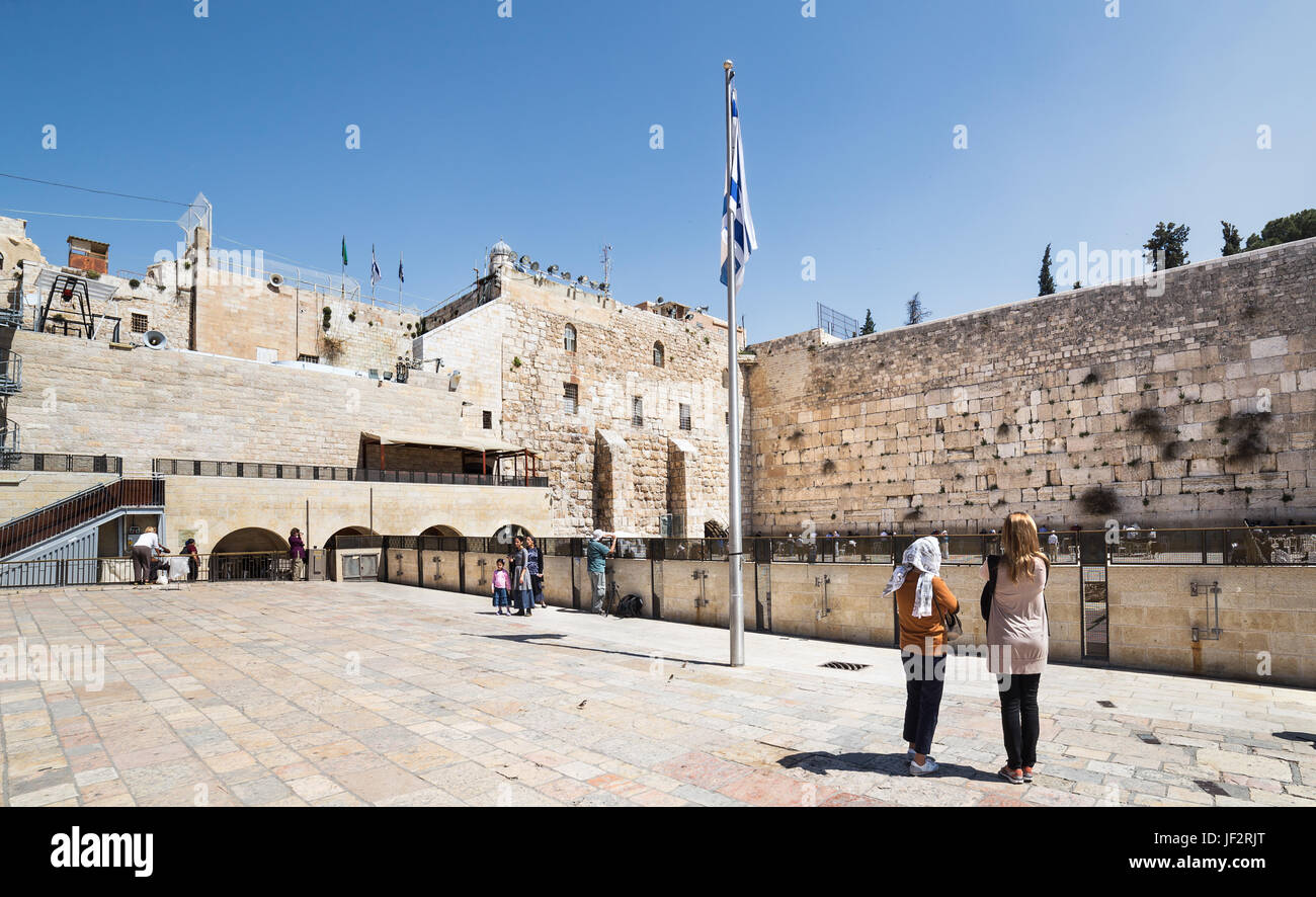 Wailing Wall in the Old City of Jerusalem. - Stock Image