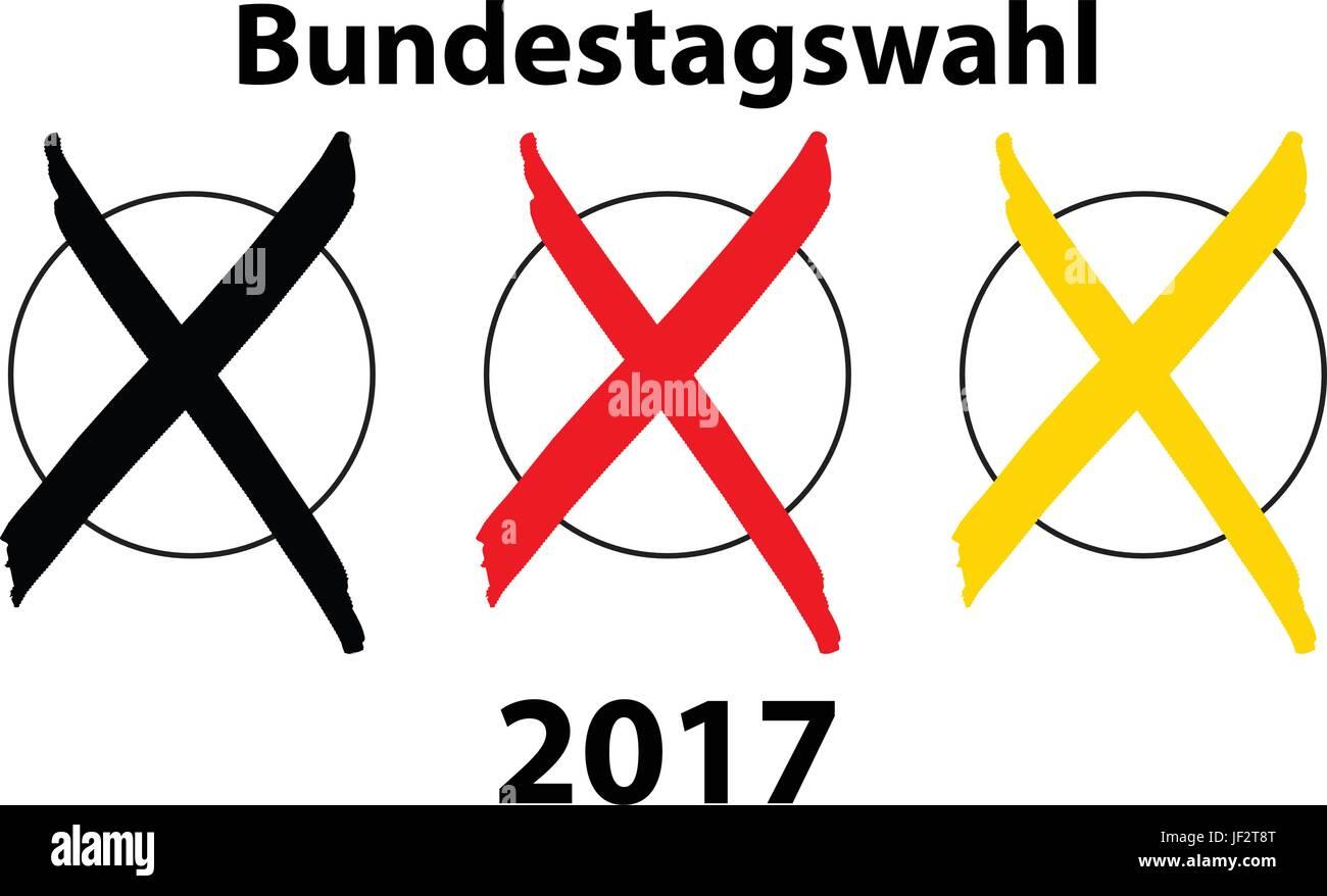 German election 2017 - Stock Vector