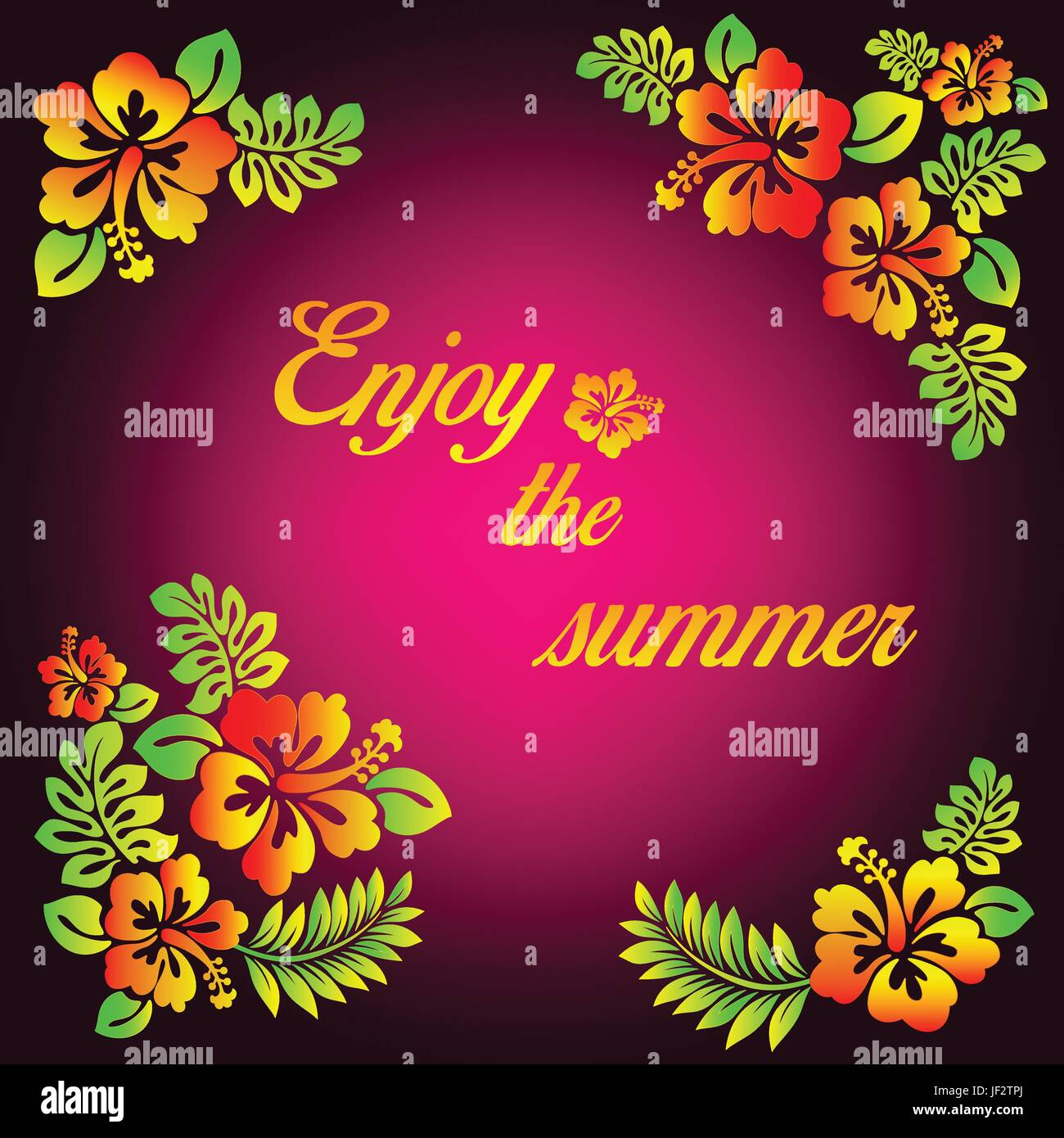 flower, plant, summer, summerly, party, celebration, hibiscus, happiness, pink, - Stock Vector