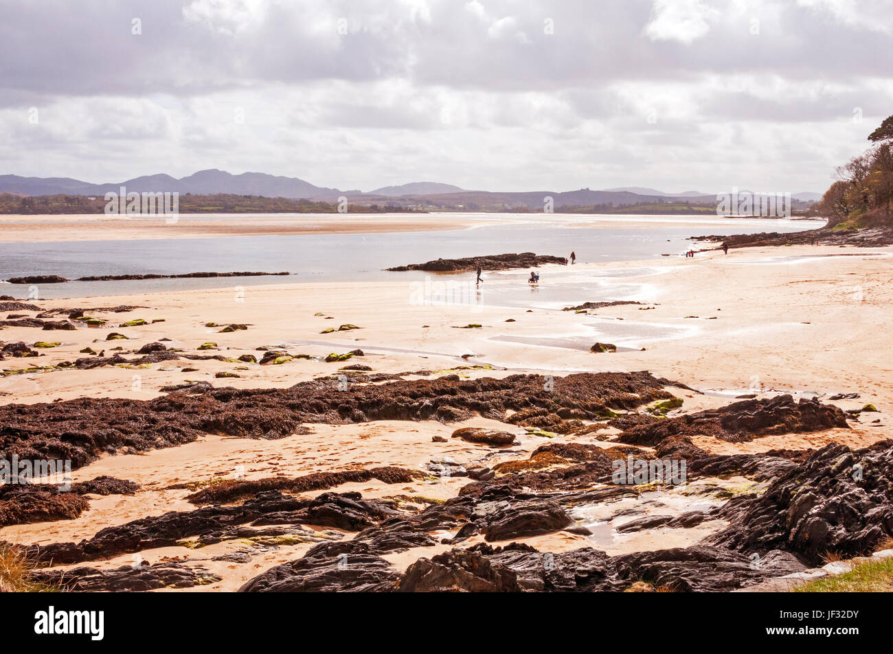 Beach and views at Ards Forest Park, County Donegal, Ireland - Stock Image