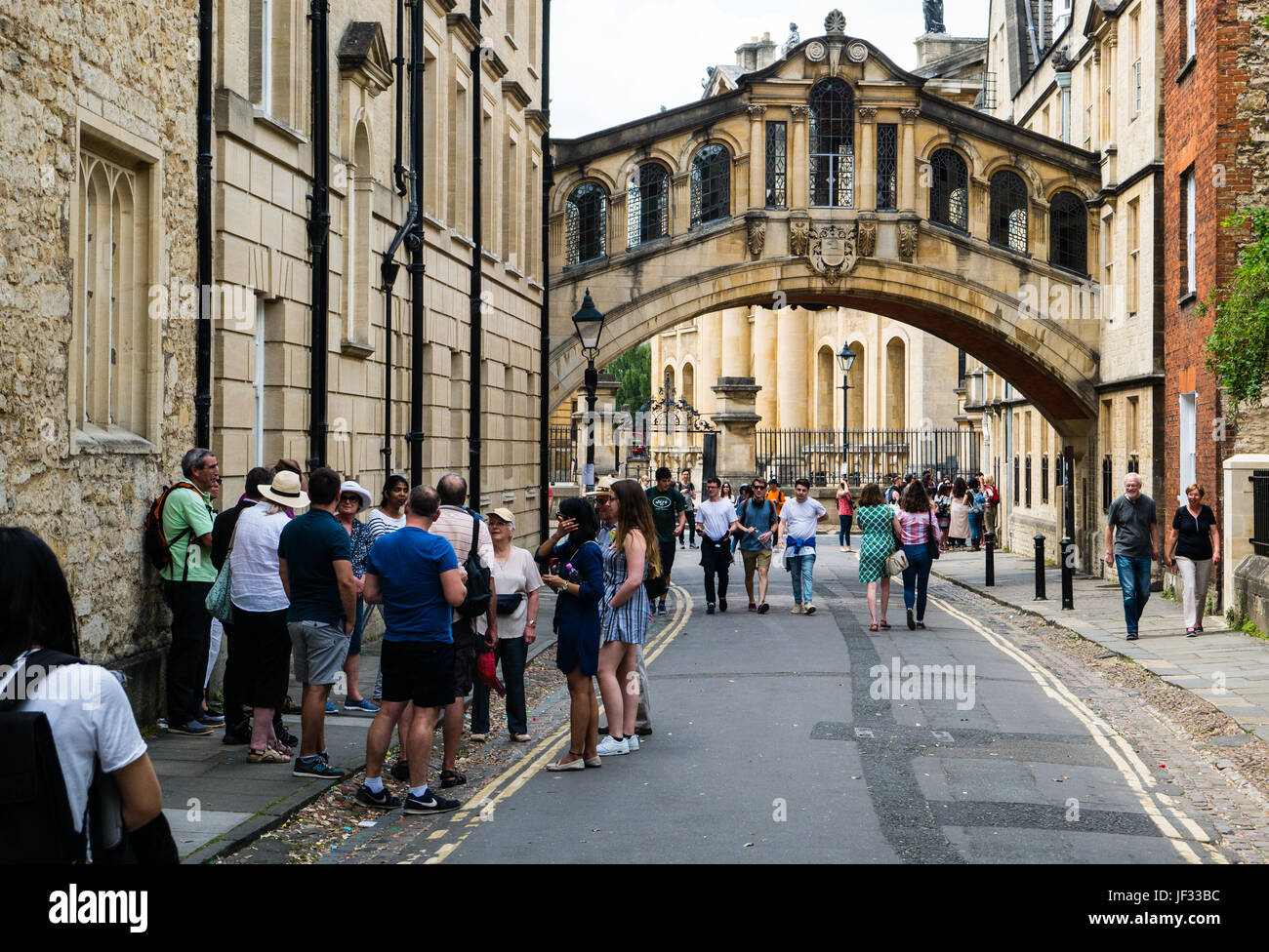 The Bridge of Sighs, New College Lane, Oxford, Oxfordshire, England - Stock Image