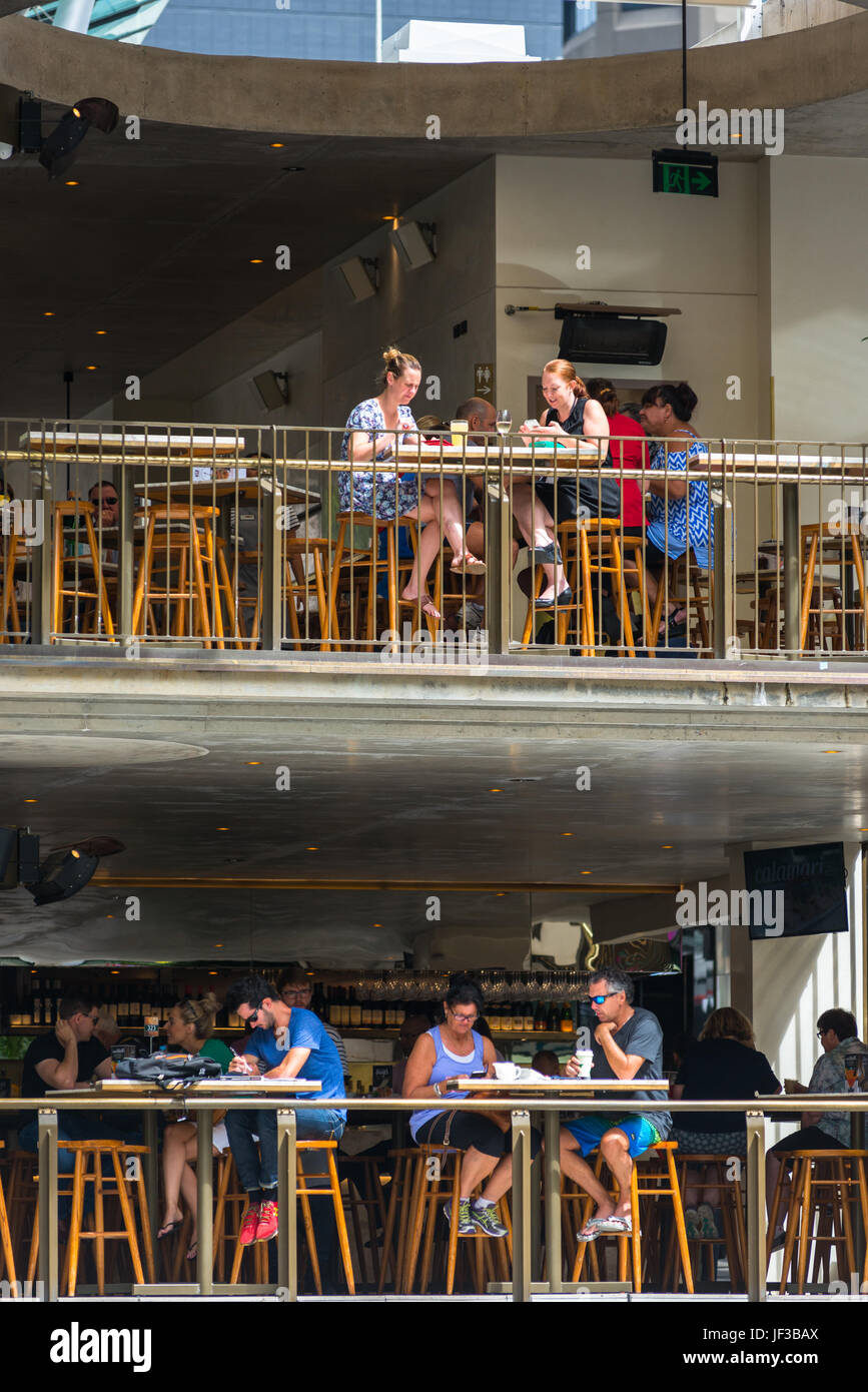 Jimmy's On The Mall on the corner of Queen street and Albert street in Brisbane's main shopping district. - Stock Image