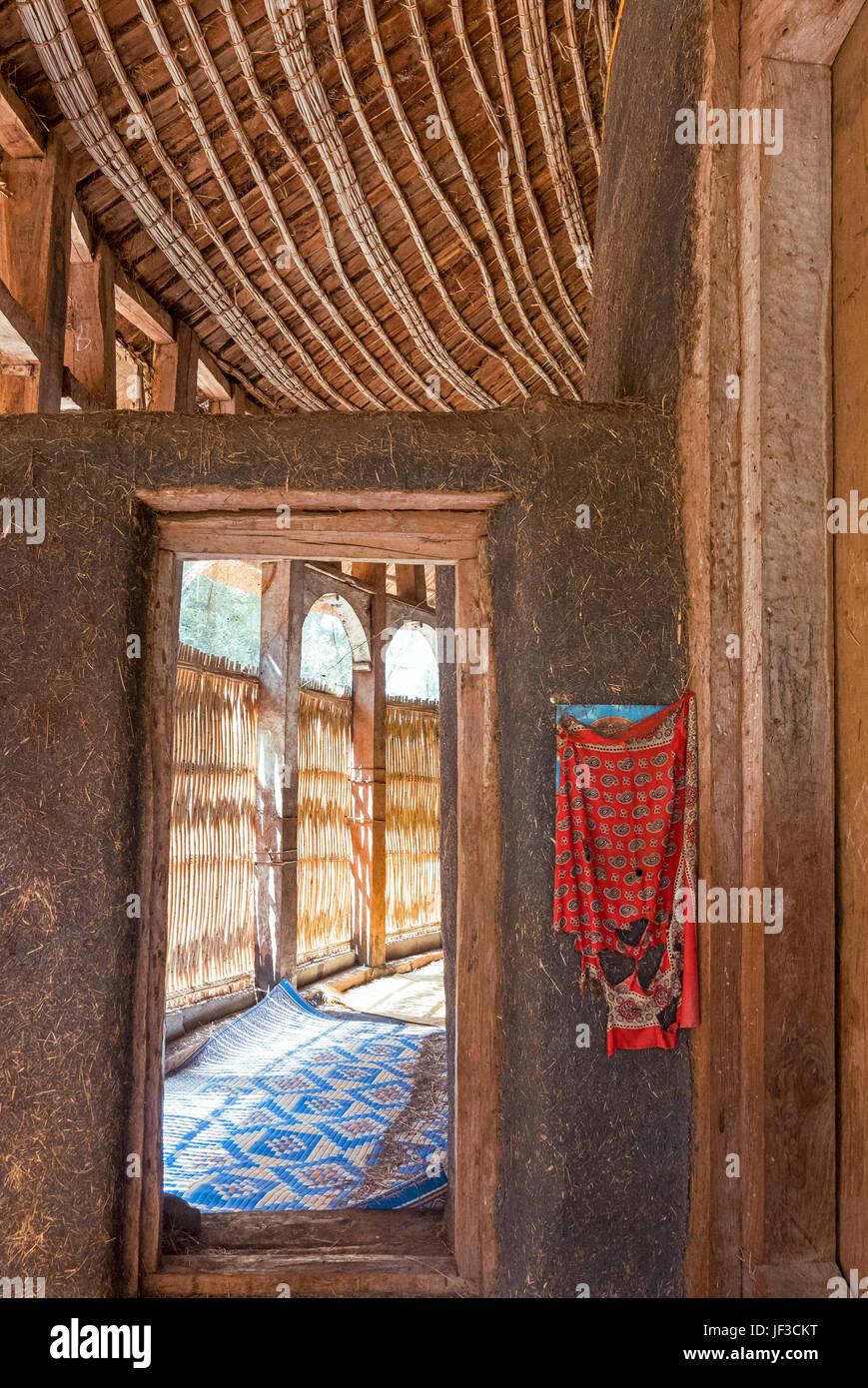 Ethiopia, Bahir Dar,  the hut shape inside of orthodox church of Azwa Mariam - Stock Image