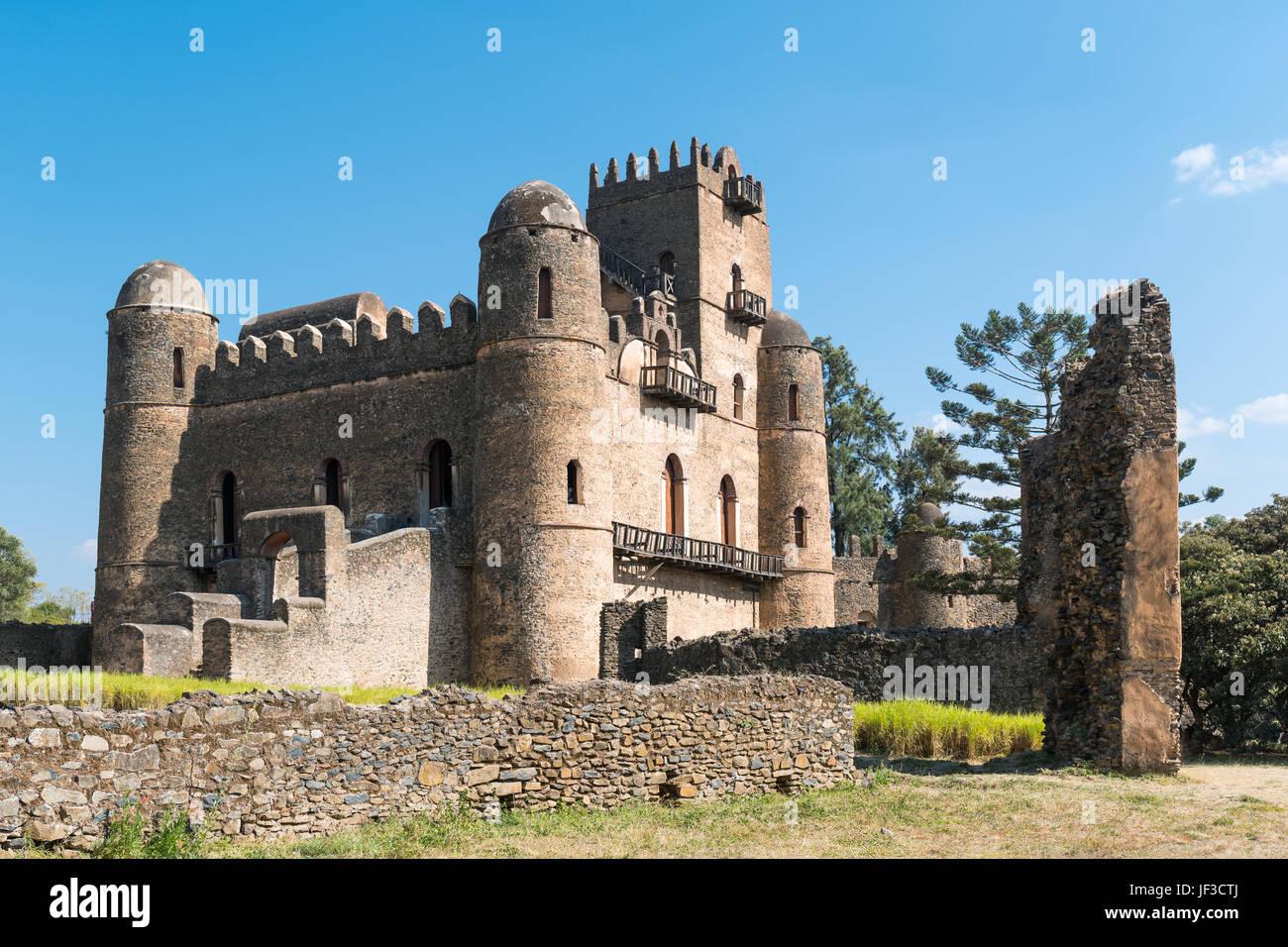 Ethiopia, Gondar, the Emperor's palace - Stock Image