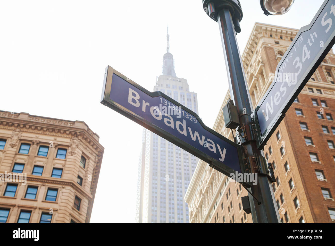 Broadway sign in New York - Stock Image