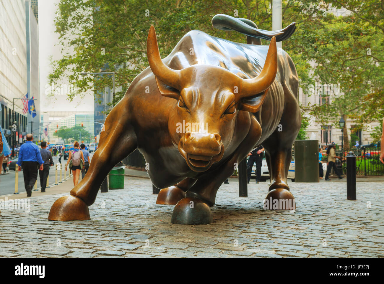 Charging Bull sculpture in New York City - Stock Image